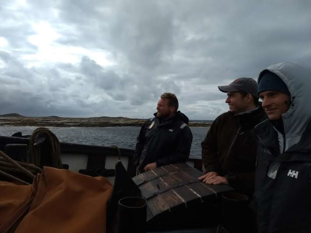 Jekta Pauline ankommer landsstevnet på torsdag etter fire dagers seilas med flotte ungdommer ombord. Foto: Mathilde Gabrielsen Vikene